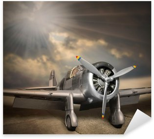 Nálepka Pixerstick Retro styl obraz letadla.