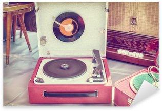 Nálepka Pixerstick Retro stylizovaný obraz starého gramofonu