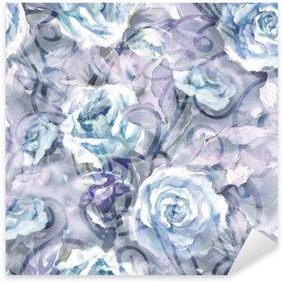 Nálepka Pixerstick Roses bezešvé vzor