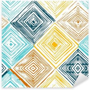 Nálepka Pixerstick Ručně malovaná kosočtverec bezešvé vzor