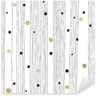 Nálepka Pixerstick Ručně tažené bezešvé vzor na bílém pozadí s tenká čára A