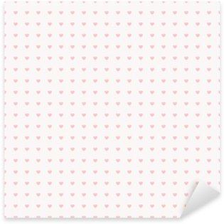 Nálepka Pixerstick Seamless pattern se srdíčky