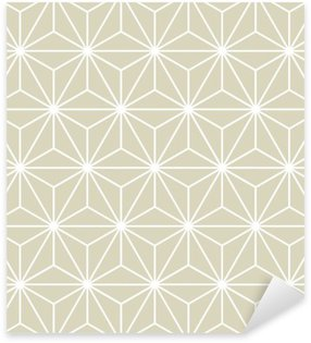 Nálepka Pixerstick Seamless Vector geometrický vzor textura