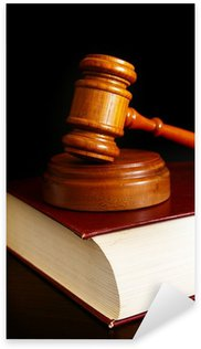 Nálepka Pixerstick Soud palička na vrcholu zákon knihy