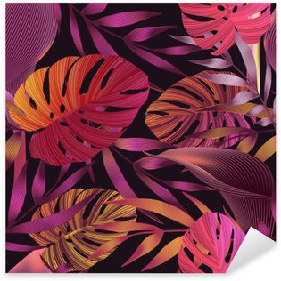 Nálepka Pixerstick Tropické květiny, Jungle listy, rajka květu.
