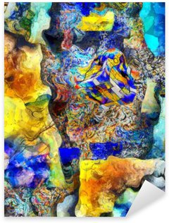 Nálepka Pixerstick Úhlová Abstract