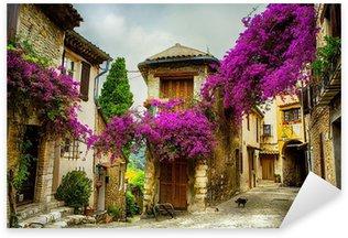 Nálepka Umění, krásné staré město z Provence