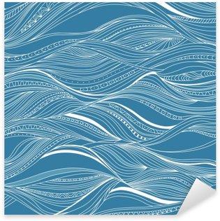 Nálepka Vektorové bezešvé abstraktní vzor, vlnění