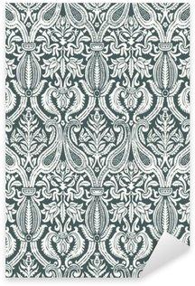 Nálepka Pixerstick Vektorové bezešvé květinový vzor damašek vinobraní abstraktní poza