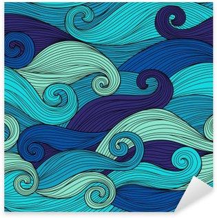 Nálepka Vektorové bezproblémové vzorek s abstraktními vlnami