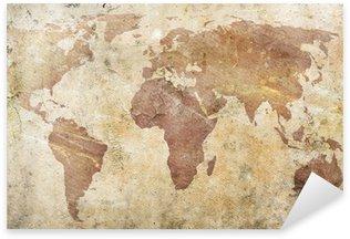 Nálepka Vintage mapa světa