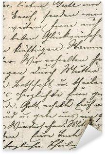 Nálepka Vintage rukopis s textem v nedefinované jazyce