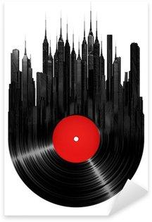 Nálepka Vinyl město