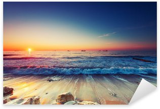 Nálepka Pixerstick Východ slunce nad mořem