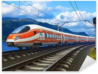 Nálepka Pixerstick Vysokorychlostní vlak