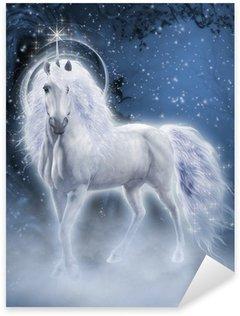 Nálepka White Unicorn 3D počítačová grafika