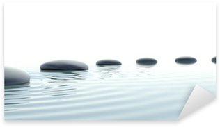 Nálepka Pixerstick Zen cesta kamenů v širokoúhlém formátu