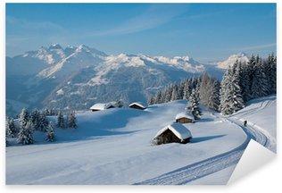 Nálepka Pixerstick Zimní turistika v Alpách