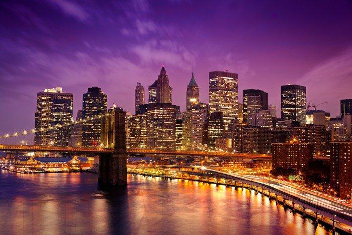 Obraz na Aluminium (Dibond) New York Manhattan Pont de Brooklyn -
