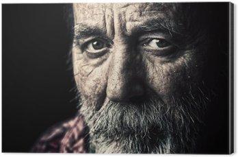Obraz na Aluminium (Dibond) Bardzo stary starszy mężczyzna portret bezdomnych