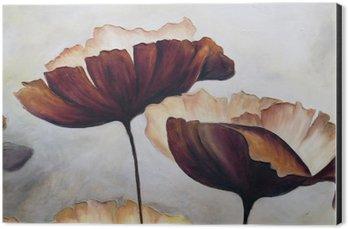 Obraz na Aluminium (Dibond) Poppy malarstwo abstrakcyjne
