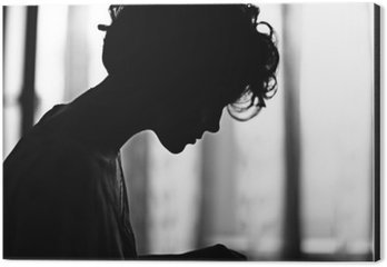 Obraz na Aluminium (Dibond) Portret dziewczyny sylwetka