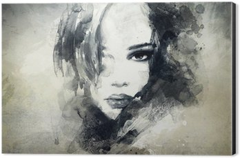 Obraz na Hliníku (Dibond) Abstraktní žena, portrét