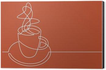 Obraz na Hliníku (Dibond) Kontinuální perokresba šálek kávy