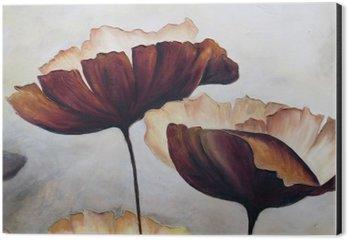 Obraz na Hliníku (Dibond) Mák abstraktní malby