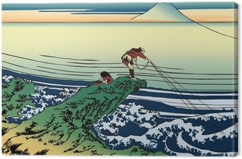 Obraz na Plátně 葛 飾 北 斎 富 嶽 三 十六 景 甲 州 石班澤 の イ ラ ス ト