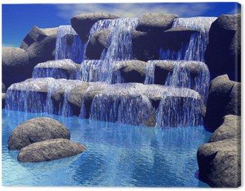 Obraz na Plátně 3d vodopad