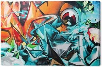 Obraz na Plátně Abstract Graffiti detail na texturami zeď