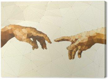 Obraz na Plátně Abstrakt Boží ruka vektorové ilustrace