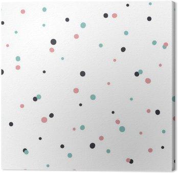 Obraz na Plátně Abstraktní bezproblémové vzorek na bílém pozadí s černým a Gol