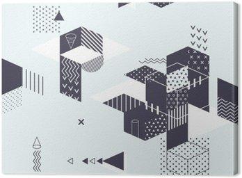 Obraz na Plátně Abstraktní moderní geometrické pozadí