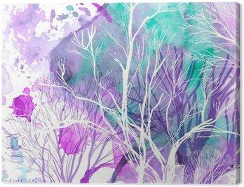 Obraz na Plátně Abstraktní silueta stromů