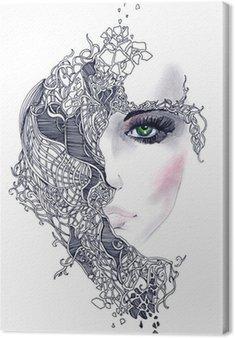 Obraz na Plátně Abstraktní žena tvář