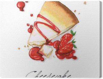 Obraz na Plátně Akvarel Food Malba - Tvarohový
