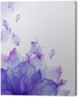 Obraz na Plátně Akvarel karta s fialovým okvětních lístků