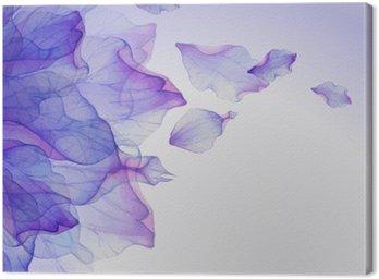 Obraz na Plátně Akvarel květinové vzory kulaté.