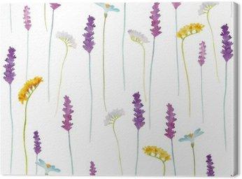 Obraz na Plátně Akvarel květiny vzor