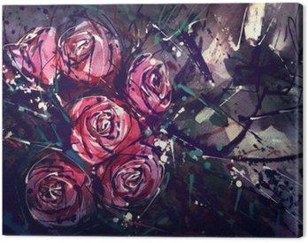 Obraz na Plátně Akvarel styl růže Abstraktní umění.