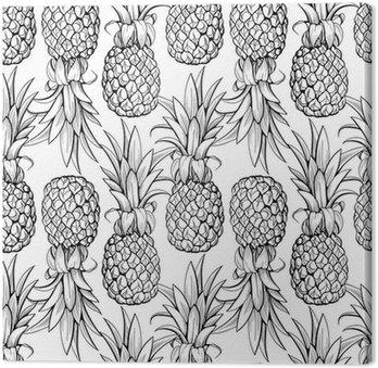 Obraz na Plátně Ananas bezešvé vzor