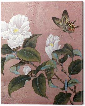 Obraz na Plátně Azalka květina a motýl
