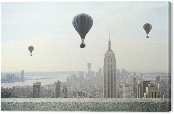 Obraz na Plátně Balon na obloze - Témata