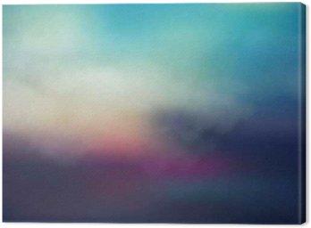 Obraz na Plátně Barevné abstraktní pozadí západu slunce