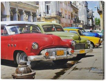 Obraz na Plátně Barevné Havana auta