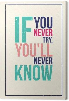 Obraz na Plátně Barevné inspirace motivace plakát. Grunge styl