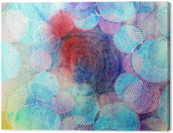 Obraz na Plátně Barevné kruhy ilustrace umění