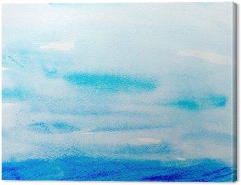 Obraz na Plátně Barevné tahy akvarelu umění